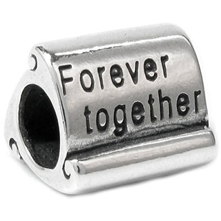Queenberry .925 Sterling Silver 'Forever Together' European Charm