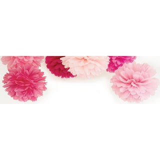 "Pop! Pom Poms Paper Decorations 12"" 3/Pkg-Fairy Floss"