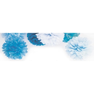"Pop! Pom Poms Paper Decorations 12"" 3/Pkg-Bubblegum"