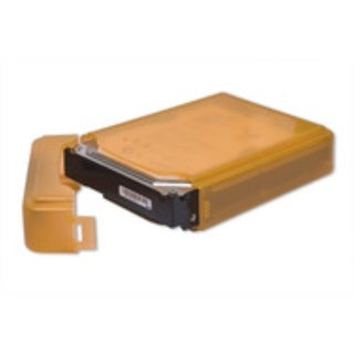 Syba Orange Plastic Storage Box for 3.5-inch HDD Fit 1 HDD Dust-proof Anti-Static