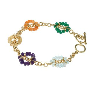 Michael Valitutti Round-cut Multi-gemstone Bracelet