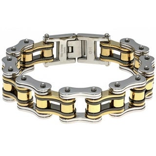 Stainless Steel Men's Large Link Bracelet