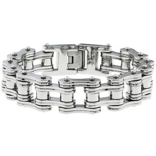 Stainless Steel Men's Large Link Bracelet