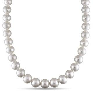 Miadora Signature Collection 14k White Gold South Sea Pearl and Diamond Accent Necklace (11-14 mm)