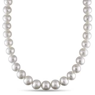 Miadora Signature Collection 14k White Gold South Sea Pearl and Diamond Accent Necklace (11-14 mm)|https://ak1.ostkcdn.com/images/products/9627497/P16813385.jpg?impolicy=medium