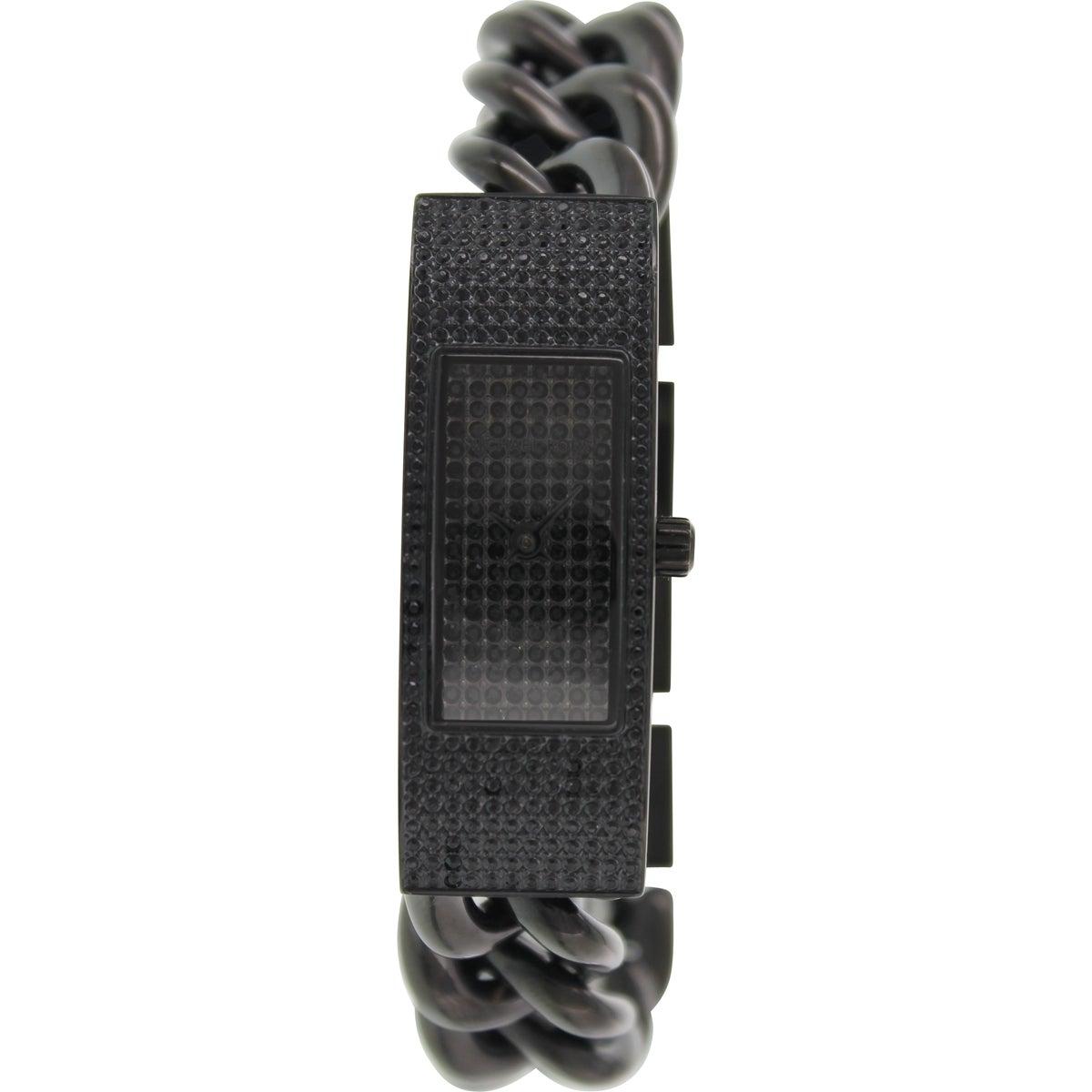Michael Kors Womens MK3308 Hayden Black Glitz Watch