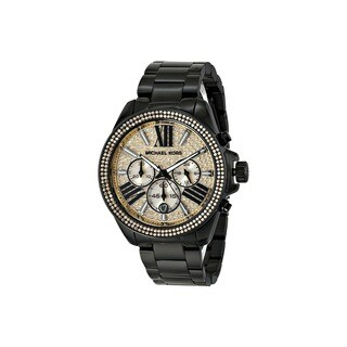Michael Kors Women's MK5961 Wren Black Glitz Chronograph