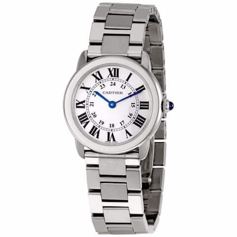 Cartier Women's W6701004 Rondo Solo Round Silver Bracelet Watch