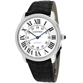 Cartier Men's W6701010 Ronde Solo Round Black Strap Watch