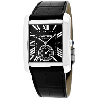 Cartier Men's W5330004 Tank Solo Square Black Strap Watch