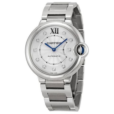 Cartier Men's WE902075 Ballon Bleu Round Silvertone Bracelet Watch