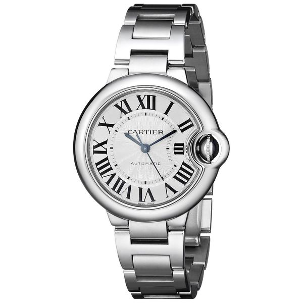 Shop Cartier Women s W6920071 Ballon Bleu Round Silver Bracelet Watch -  Free Shipping Today - Overstock - 9627682 57f7f780fe68