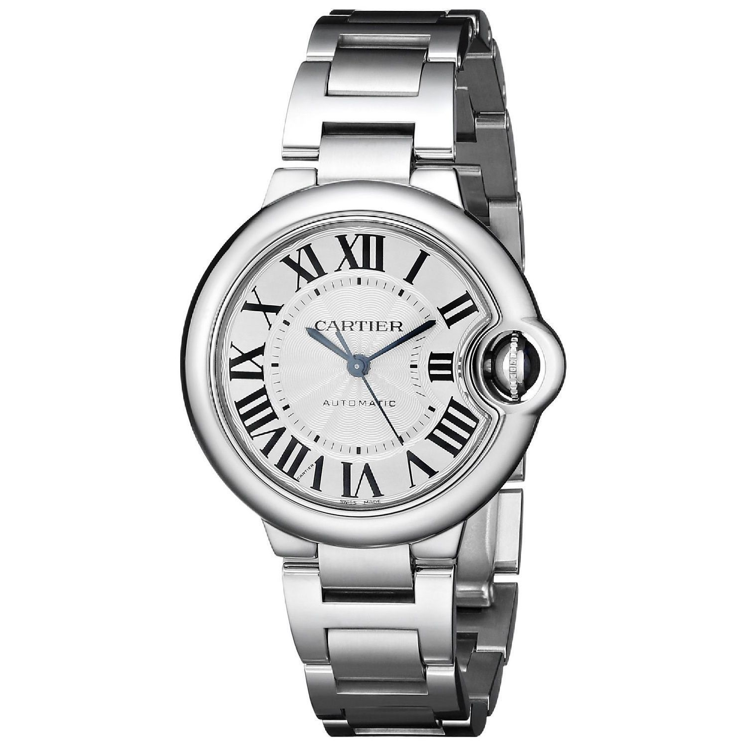 Cartier Womens W6920071 Ballon Bleu Round Silver Bracelet Watch Cartier Womens Ballon Bleu Watch