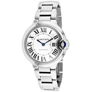 Cartier Women's W6920071 Ballon Bleu Round Silver Bracelet Watch