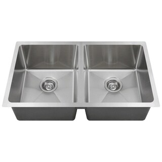 "MR Direct 3120D Double Bowl 3/4"" Radius Stainless Steel Kitchen Sink"