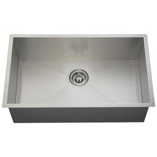 MR Direct 3322S 90-degree Single Bowl Rectangular Stainless Steel Sink