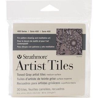 Strathmore Tiles 4X4 30/Pkg-Toned Gray