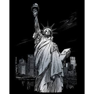 "Silver Foil Engraving Art Kit 8""X10""-Lady Liberty"