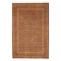 Handmade Herat Oriental Indo Tabriz Wool Rug (India) - 6' x 9'