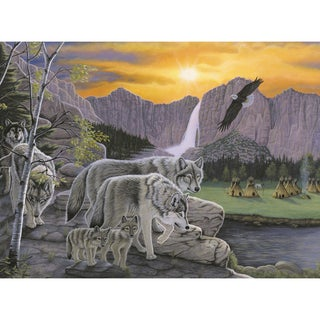 """Junior Large Paint By Number Kit 15.25""""X11.25""""-Path Of The Wolf Spirit"""