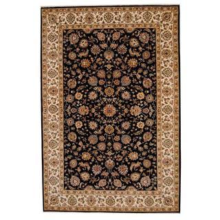 Herat Oriental Indo Hand-knotted Tabriz Wool and Silk Rug (6' x 9') - 6' x 9'