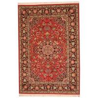 Herat Oriental Indo Hand-knotted Kashmar Wool Rug - 6'2 x 9'2