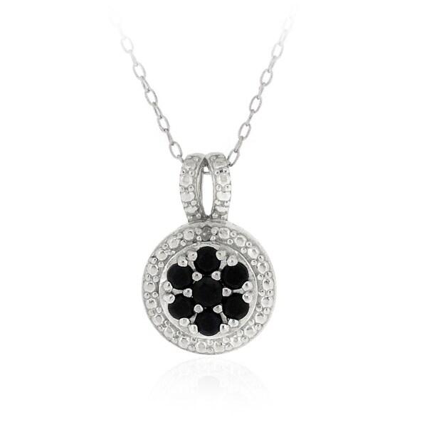 Glitzy Rocks Silver Precious Gemstone Necklace