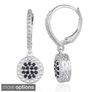 Glitzy Rocks Silver Precious Gemstone Leverback Earrings