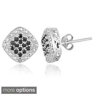 Glitzy Rocks Silver Precious Gemstone Stud Earrings