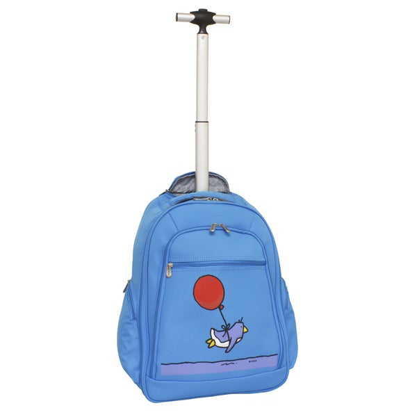 a51837603eb Shop Ed Heck Sky Blue Flying Penguin 20-inch Rolling Backpack - Free ...