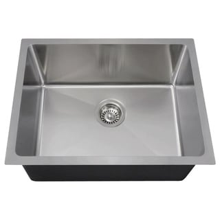 MR Direct 1823 Stainless Steel Single Bowl 0.75-inch Radius Kitchen Sink