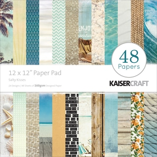 "Kaisercraft Paper Pad 12""X12"" 48/Pkg-Sandy Toes Salty Kisses"