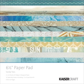 "Kaisercraft Paper Pad 6.5""X6.5"" -Sandy Toes"