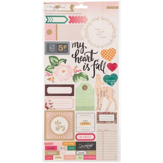 """Maggie Holmes Open Book Cardstock Stickers 6""""X12"""" 2/Sheets-Accent & Phrase"""