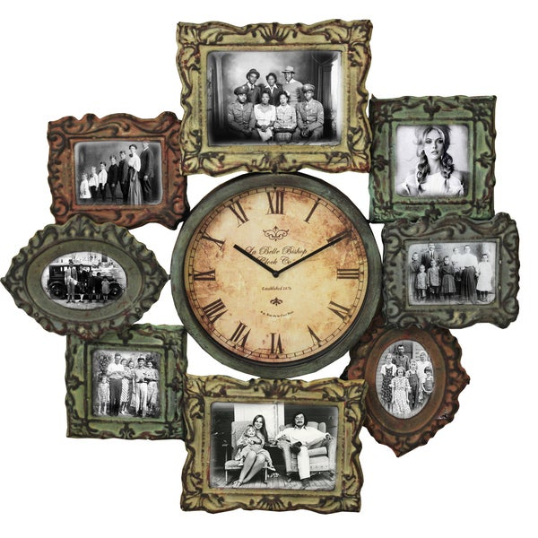 la belle handcrafted photo gallery clock and wall picture