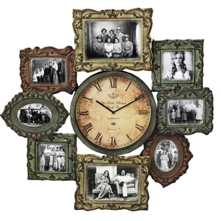 La Belle Handcrafted Photo Gallery Clock and Wall Picture Frame