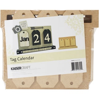 "Beyond The Page MDF Tag Calendar W/14 Tags-5.5""X8.75""X1.5"""