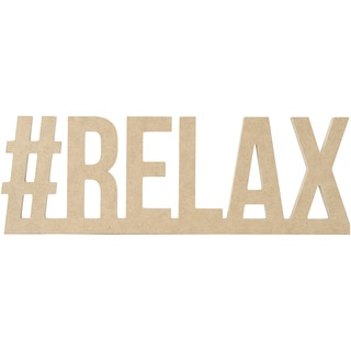 "Beyond The Page MDF #RELAX Wall Word-16.25""X5.5""X.5"""