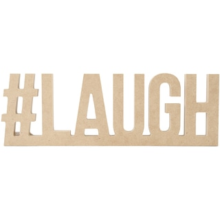"""Beyond The Page MDF #LAUGH Wall Word-10.5""""X3.5""""X.5"""""""