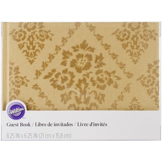 """Wedding Guest Book 8.25""""X6.25"""" 50 Pages-Kraft"""