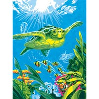"""Paint Works Paint By Number Kit 9""""X12""""-Swimming Turtle"""