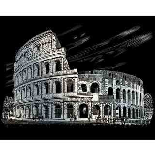 "Silver Foil Engraving Art Kit 8""X10""-Colosseum"