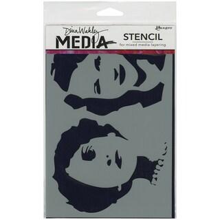 "Dina Wakley Media Stencils 6""X9""-Stenciled Women"