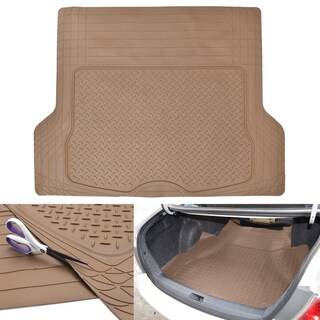 Motor Trend Large Cargo Trunk Odorless Trimmable Rubber Mat