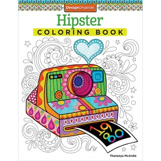 Design Originals-Hipster Coloring Book