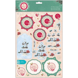 Papermania Bellissima Christmas A4 Decoupage Pack-Cake Stand