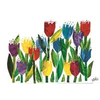 Draw Me a Star Character Art Flowers Canvas Art Print by Eric Carle - Multi-color