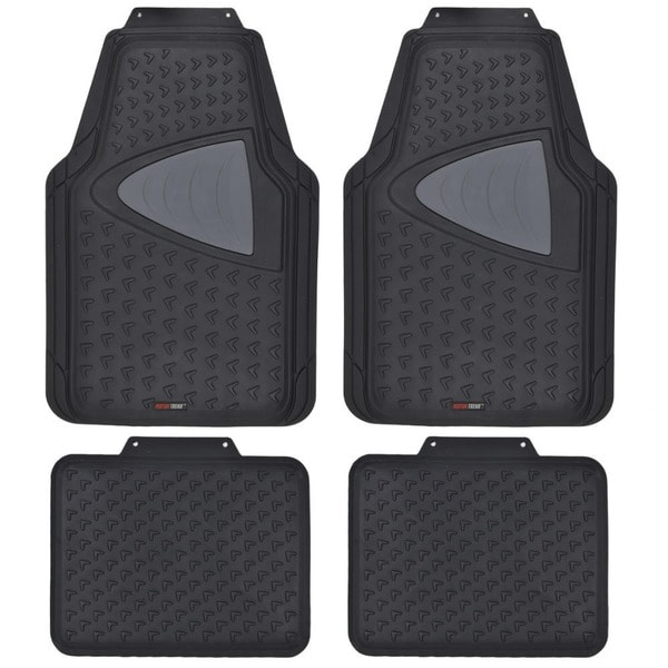 Motor trend odorless heavy duty 4 piece all weather rubber for Motor trend floor mats review