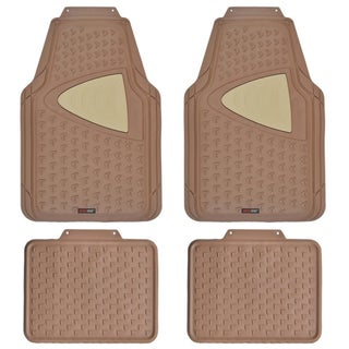 Motor Trend Odorless Heavy Duty 4-piece All-weather Rubber Car Floor Mats