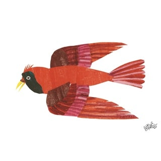 Brown Bear Red Bird Character Art by Eric Carle